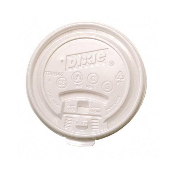 Dixie Tear Back & Lock with Straw Slot Coffee Cup Lids