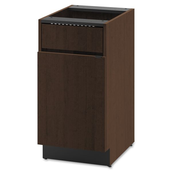 "HON Modular Single Waste Management Cabinet   1 Access Panel / 1 Door   18""W"