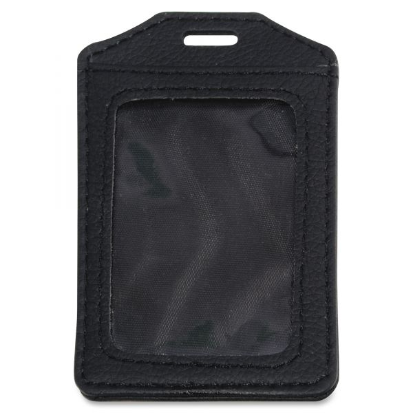 Advantus Leather-Look Vertical Badge Holders