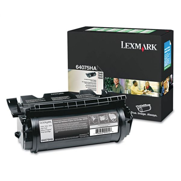 Lexmark 64075HA Black High Yield Toner Cartridge