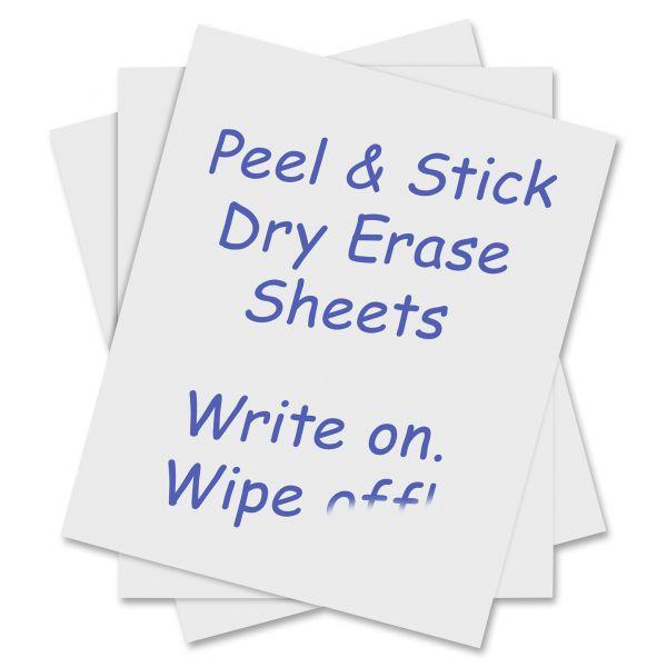 C-line Peel & Stick Dry Erase Sheets