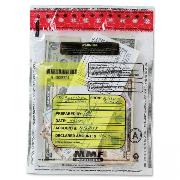 MMF Clear Tamper-Evident Deposit Bags