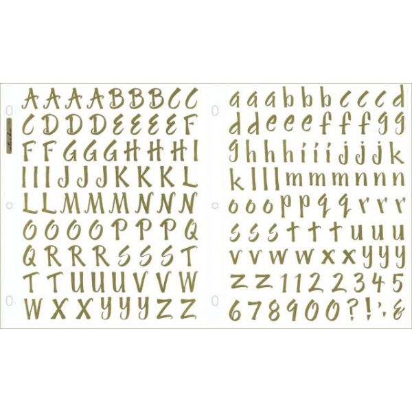 Sticko Susy Ratto Brush Alphabet Stickers 2/Pkg