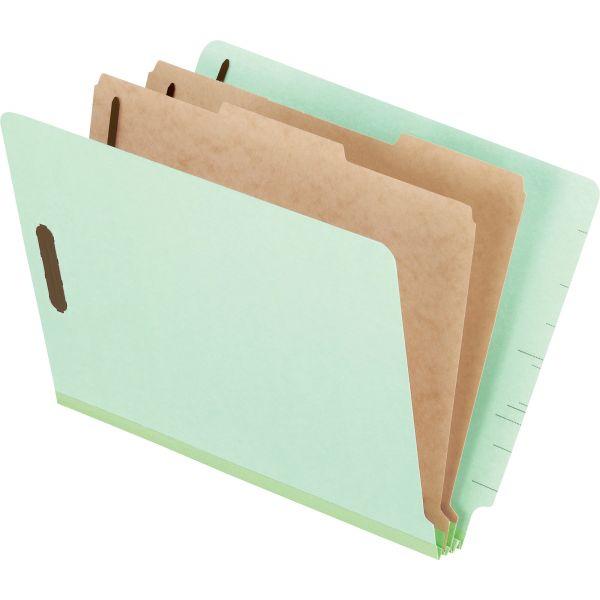 Pendaflex Pressboard End Tab Classification Folders, Letter, 2 Dividers/6 Section, 10/Box