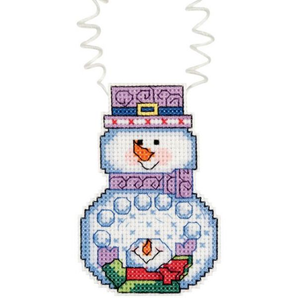 Janlynn Holiday Wizzers Snowman With Snowballs Counted Cross Stitch