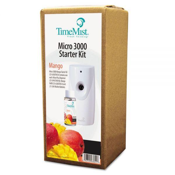 TimeMist 3000 Shot Micro Starter Kit, Mango, White/Gray