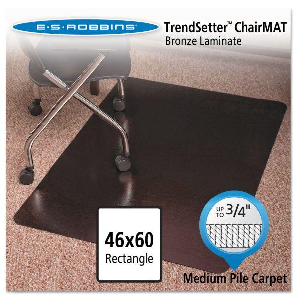 ES Robbins Design Series Laminate Chair Mat for Carpets