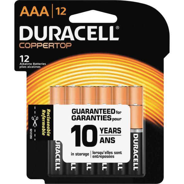 Duracell CopperTop Alkaline Batteries, AAA, 12/PK