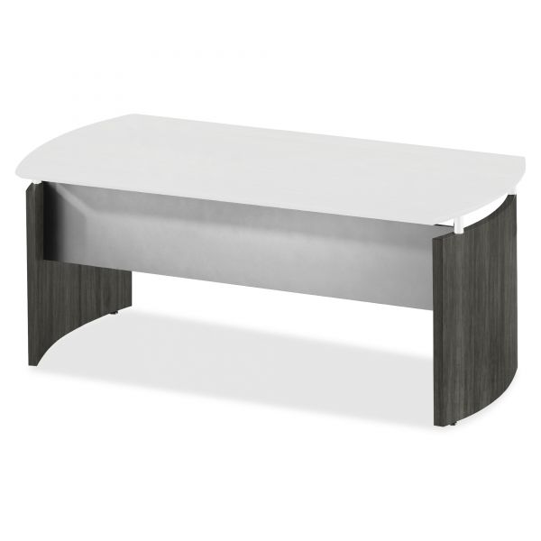 Mayline Medina Series Laminate Curved Desk Base, 72w x 36d x 29 1/2h, Gray Steel