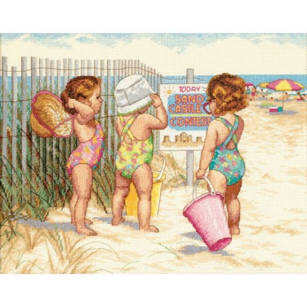 Dimensions Beach Babies Counted Cross Stitch Kit