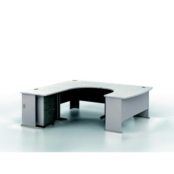 bbf Series A Professional Configuration - Pewter finish by Bush Furniture