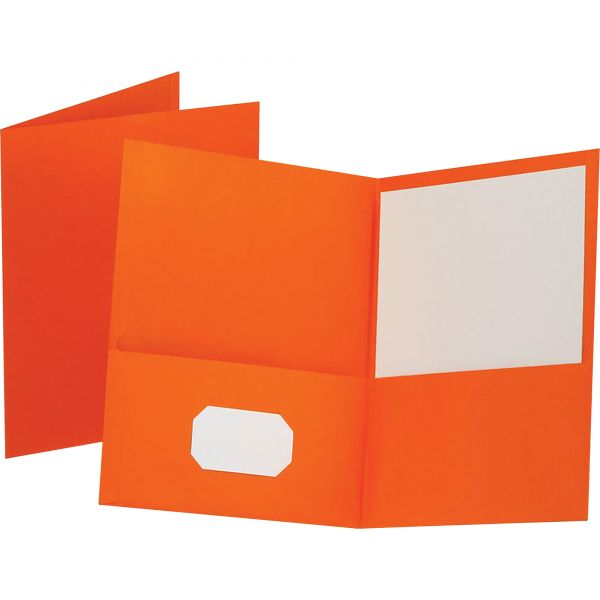 Esselte Orange Two Pocket Folders