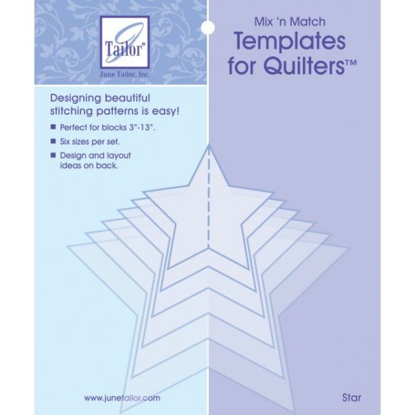 Mix'n Match Templates For Quilters 6/Pkg