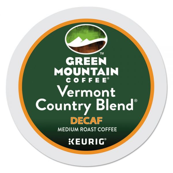 Green Mountain Coffee Vermont Country Blend Decaf Coffee K-Cups, 24/Box