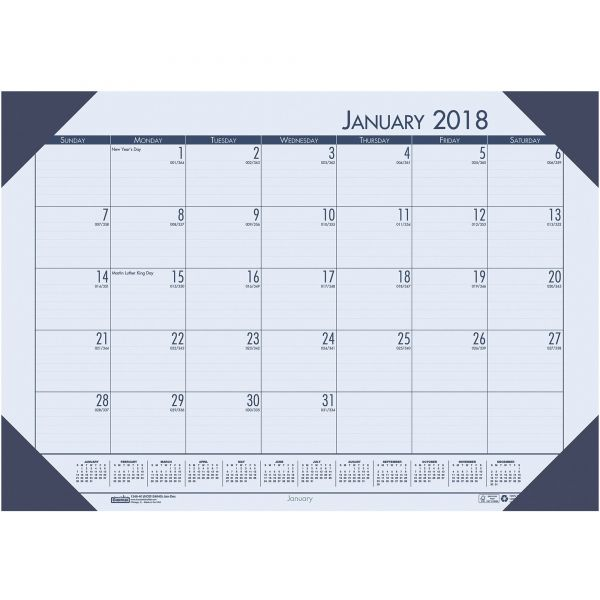 House of Doolittle Ecotones Monthly Desk Pad Calendar