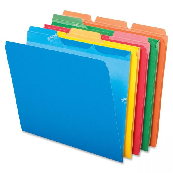 Pendaflex ReadyTab Colored File Folders