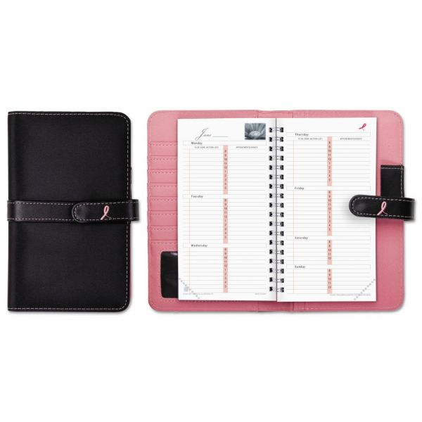 Day-Timer Pink Ribbon Starter Set, 3 1/2 x 6 1/2, Pink/White