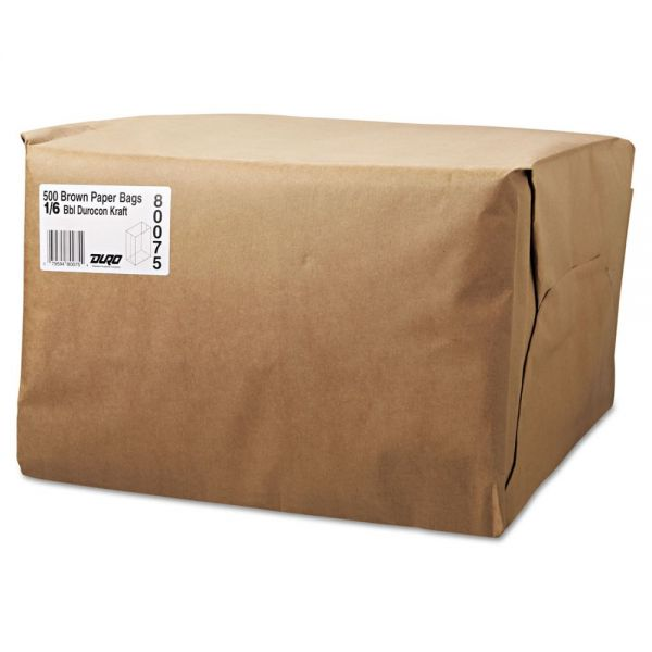 General 1/6 BBL Brown Paper Grocery Bags