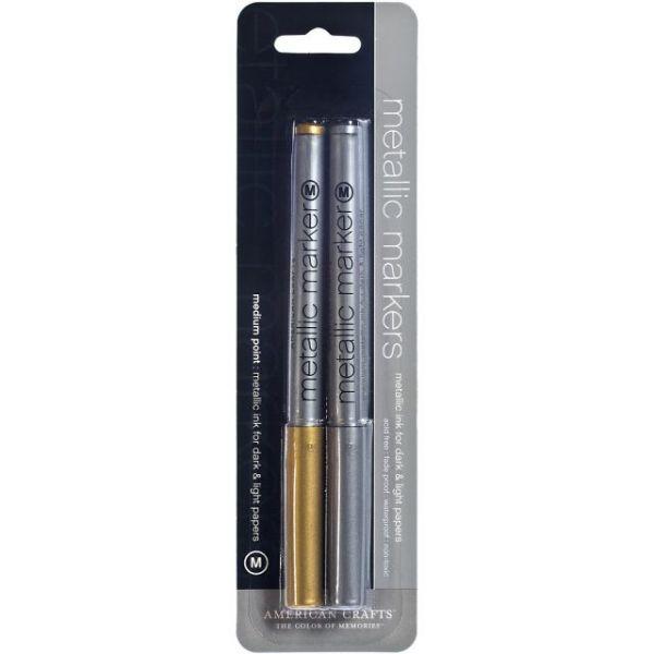 Metallic Markers Medium Point 2/Pkg