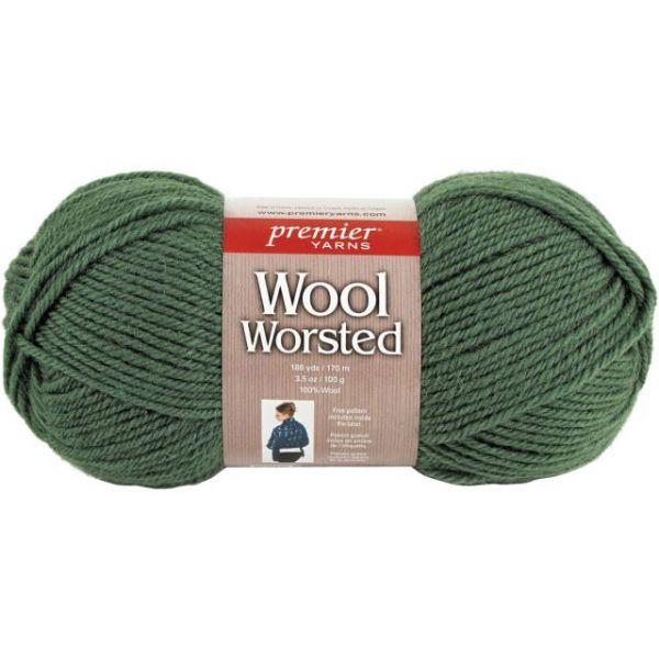 Premier Wool Worsted Yarn - Kelly Green