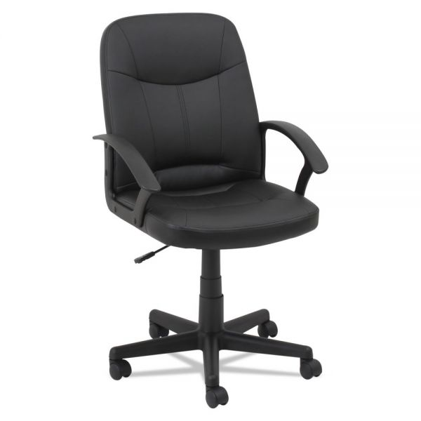 OIF Executive Leather Office Chair with Fixed Arched Arms