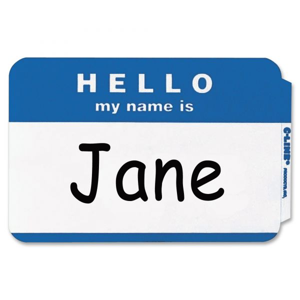 "Universal ""Hello my name is"" Adhesive Name Tags"
