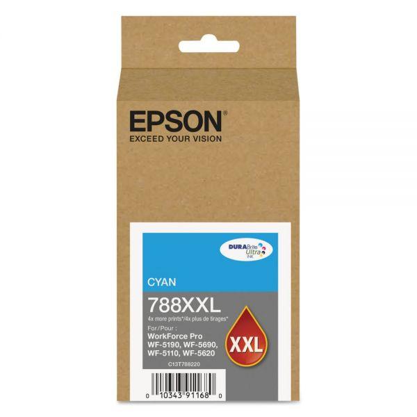 Epson 788 XXL High-Yield Cyan Ink Cartridge (T788XXL220)