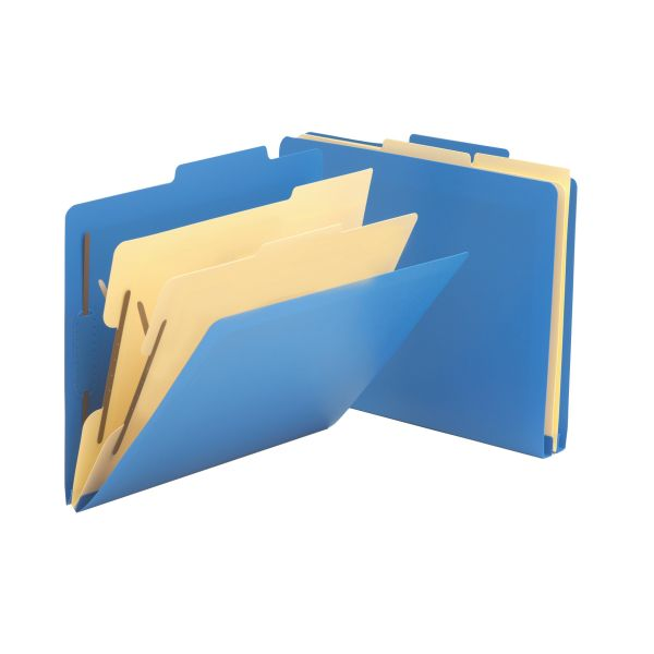 Smead Blue Poly 2-Divider Classification Folders