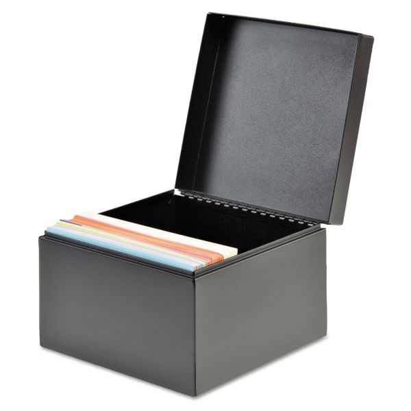 SteelMaster Index Card File, Holds 500 4 x 6 Cards, Black
