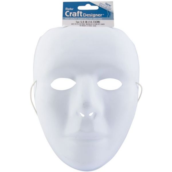 "PVC Full Face Mask Form 9.75"""