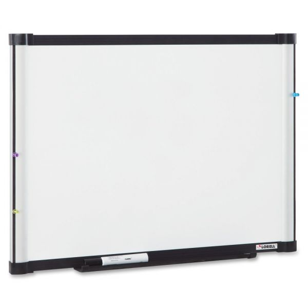 """Lorell 48"""" x 36"""" Magnetic Painted Steel Dry Erase Whiteboard"""