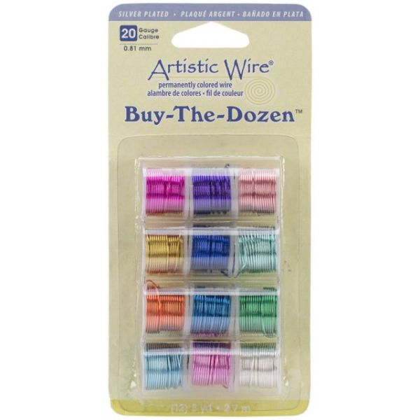 Artistic Wire Buy-The-Dozen Silver-Plated 3yd 12/Pkg