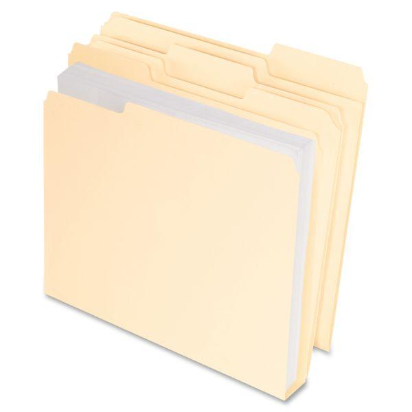 Pendaflex CutLess/WaterShed/Double Stuff Manila File Folders
