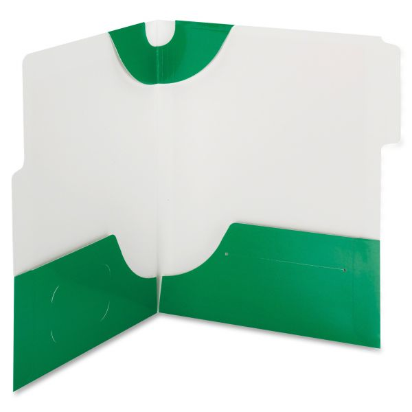 Smead SuperTab Green Two-Pocket Folders