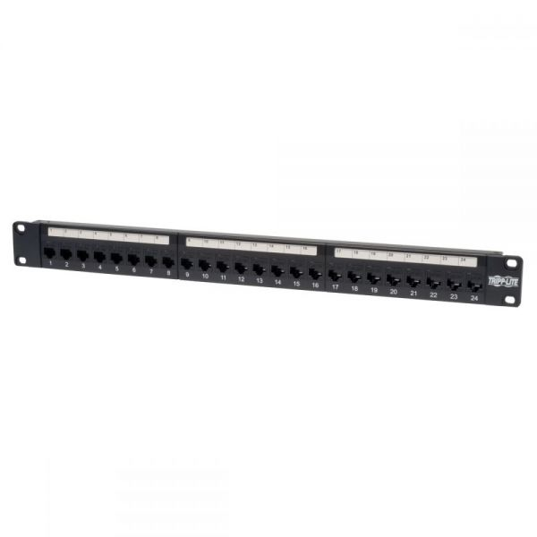 Tripp Lite 24-Port Cat5e Cat5 Feedthrough Patch Panel Rackmount 1URM RJ45 Ethernet TAA