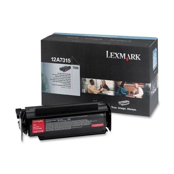Lexmark 12A7315 Black High Yield Toner Cartridge