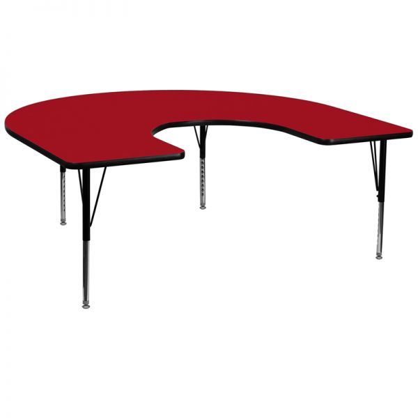 Flash Furniture Height Adjustable Horseshoe Shaped Activity Table