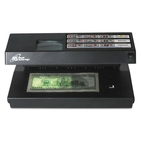 Royal Sovereign 4 Way Counterfeit Detector w/ UV, MG, IR and Microprint