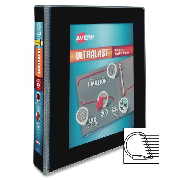 "Avery UltraLast 1 1/2"" 3-Ring View Binder w/1-Touch Slant Rings"