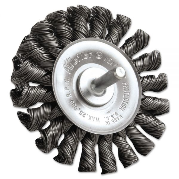 "Weiler Dualife STM-3 Twist Knot Wire Wheel, 3"" dia, .02 Wire"