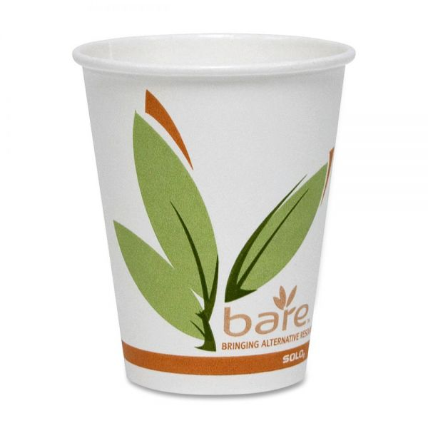 Solo Cup Bare 8 oz Paper Coffee Cups