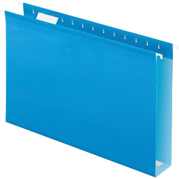 "Pendaflex Reinforced 2"" Extra Capacity Hanging Folders, 1/5 Tab, Legal, Blue, 25/Box"