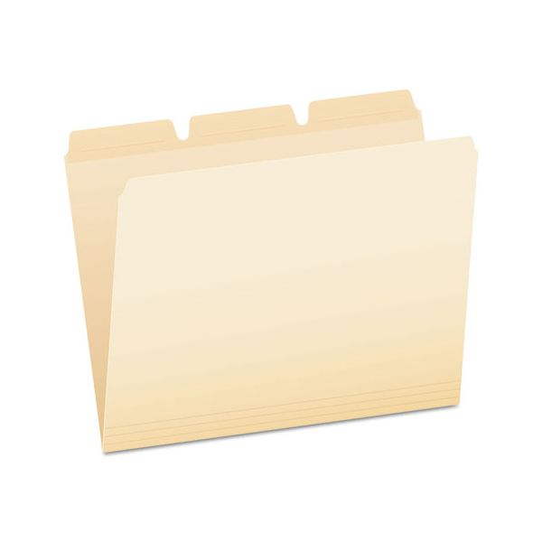 Pendaflex Ready-Tab File Folders, 1/3 Cut Top Tab, Letter, Manila, 50/Pack