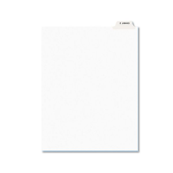Avery-Style Preprinted Legal Bottom Tab Dividers, Exhibit Z, Letter, 25/Pack
