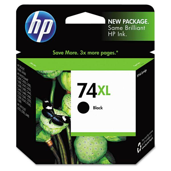 HP 74XL High Yield Black Ink Cartridge (CB336WN)