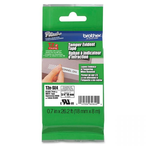 Brother P-Touch Tamper Evident  Label Tape Cartridge