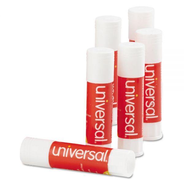 Universal Glue Stick, .28 oz, Stick, Clear, 12/Pack