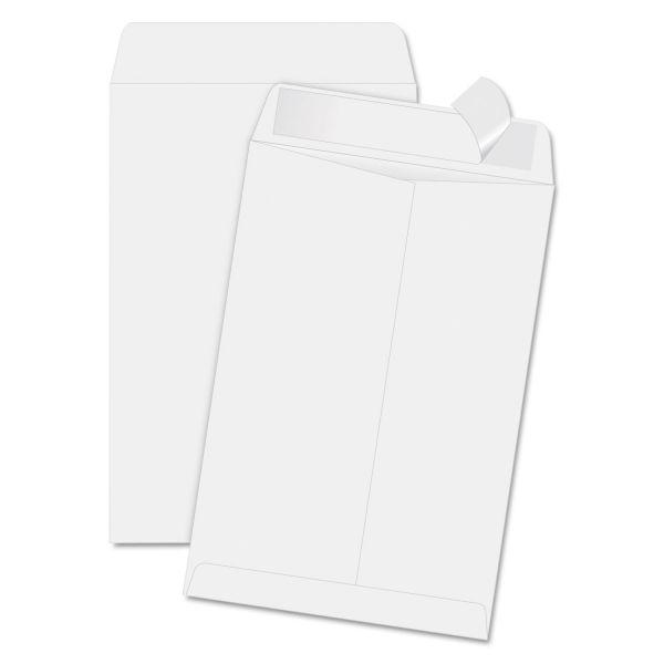 Quality Park Redi Strip Catalog Envelope, 6 1/2 x 9 1/2, White, 100/Box