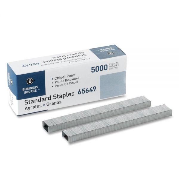"Business Source Standard 1/4"" Staples"
