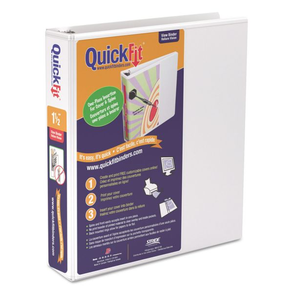"Stride QuickFit 1 1/2"" 3-Ring View Binder"